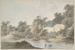 Village scene near Nobusta on the Ganges (U.P.). 23 October 1789